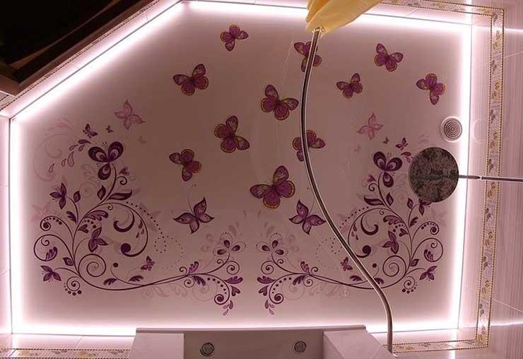 Парящий натяжной потолок с фотопечатью, цена, стоимость, фото